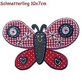 2toppe termoadesive tessuto Appliques farfalla 10x 7e Hase 6,5x 10CMCM TrickyBoo design Zurich