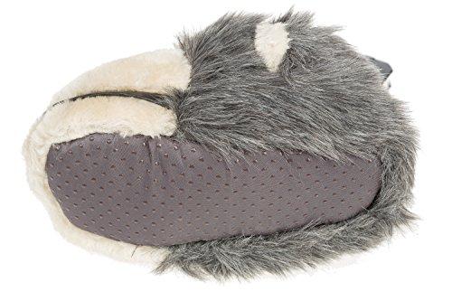 GIBRA® Tierhausschuhe Affe Hausschuhe, grau, Gr. 36-41 Grau