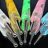 Noname Lot de 5dotting tool, French manucure, décoration, pour gel UV, ongles, reconstruction, nail art