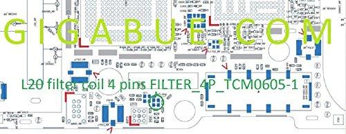 L20Square diplexers Coil Filter Cap IC Chip Filter _ 4P _ tcm0605-1Für iPhone 5 Diplexer Filter