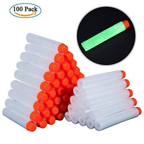 Meersee Darts Pfeile für Nerf, 100 Stück Pfeile Weiß Schaumstoff Darts für Nerf N-Strike Elite Serie Blasters Toy Gun