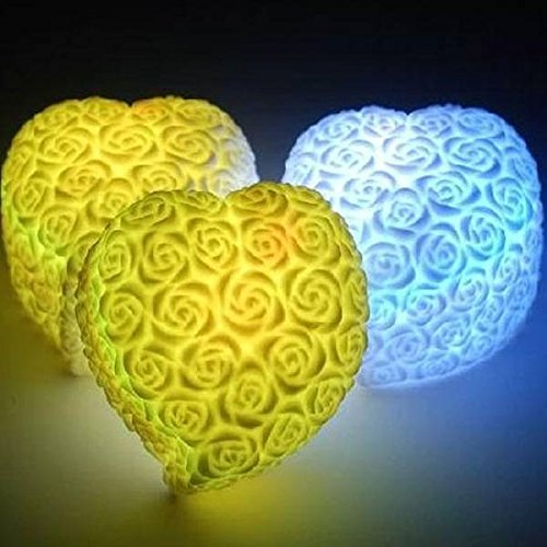 mark8shop Colorful LOVE Herz Form LED Licht Lampe Hochzeit Valentine Party Dekoration Geschenk