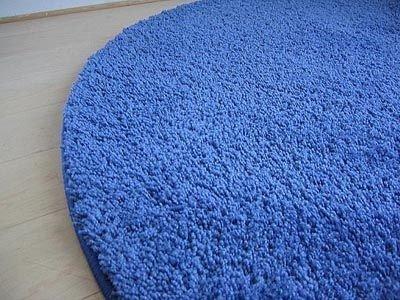 Teppich rund blau  Hochflor Shaggy Teppich Palace Blau Rund in 7 Größen: Amazon.de ...