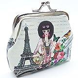Creavvee® Paris Eiffelturm Mini Börse Münzbeutel Täschchen für unterwegs