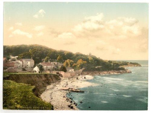 Lancashire, Heysham Village In Morecambe Bay - English Photochrome - EPC366 Satin Paper A4 Size