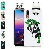 LA-Otter Coque iPhone X/iPhone XS Blanc Panda Ultra Fine Slim Mince Silicone TPU Gel...