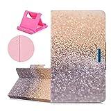 Katech Universal 10 Zoll Kunstleder Tablette Hülle, Flip Kartenfächer - Standfunktion Magnetverschluss Wallet Handy Tasche Case für für Samsung Galaxy Tab A 10.1 / Tab E 9.6 / Tab A 9.7 + 1 x Ständer