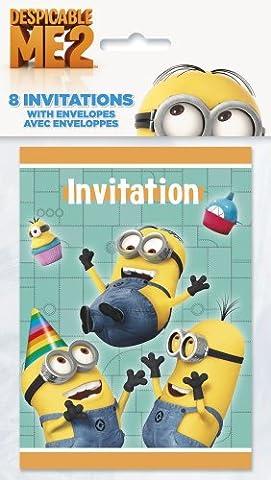 Carte D Invitation Anniversaire - Despicable Me Party Invitations (Pack de