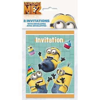 Despicable Me Party Invitations (Pack de 8)