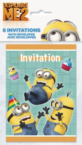 Despicable Me Party Einladungen (Pack von 8)
