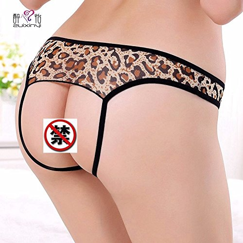 SLXTE-Tanga, Eröffnung, sexy, Leopard Print, transparente, Spitze, Versuchung, lady, Leopard Leopard