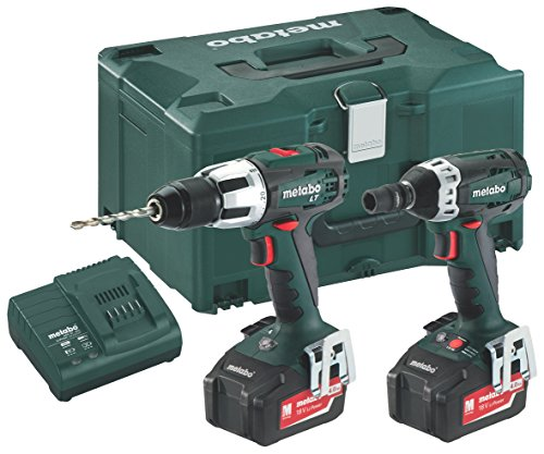 Preisvergleich Produktbild 'METABO Combo Set 2.1.418V * SB LT + SSW (2x 4,0Ah) Combo-Bohrhammer und Bohrschrauber Schlagschrauber 1/218V 4.0Ah