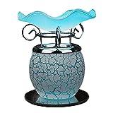 Mopoq Lampe de Bureau Lampe Fragrance Plug-in Dimming Fleur de Pierre Coquetier en Verre Lampe de Table créative Belle Belle Cadeau Veilleuse Chambre Soins des Yeux Lampe de Chevet, Bleu