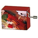 art&music, Rose mit Geige, Melodie: Happy Birthday