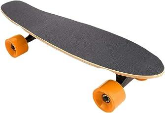 Skateboard Elektrisch Creine Elektro Longboard Mini Cruiser Retro Stil Montiert Skateboard für Erwachsene Kinder Jungen Mädchen