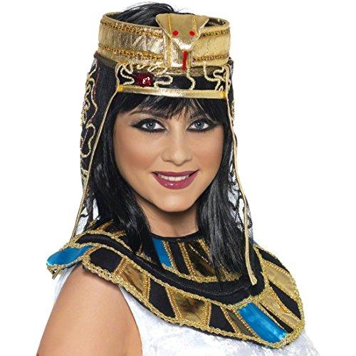 Amakando Cleopatra Kopfschmuck Ägypterin Haar Schmuck Gold Pharao Schlangenschmuck Göttin Kopfbedeckung Ägypten Kleopatra Haarschmuck Antike Kostüm Zubehör
