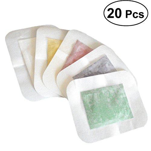 HEALIFTY 20 Stück Essentielle Fußpolster Reinigung Fußpatch Aromatherapie-Fußpolster Natürliche Inhaltsstoffe mit Klebeband (Aromatherapie-patches)