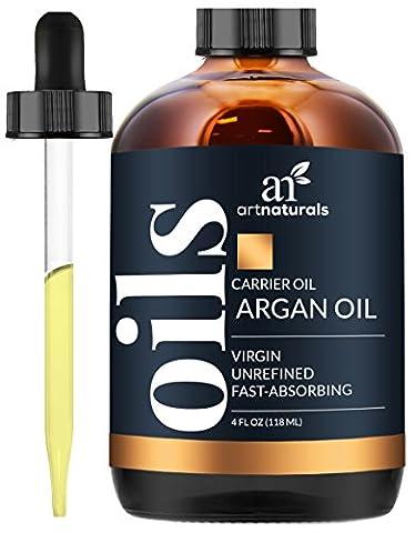 ArtNaturals Kaltgepresstes Reines Arganöl aus Marokko - Unberührt - 100% Argania Spinosa - Für Strapaziertes, und Trockenes Haar sowie zur Hautpflege - 120 ml