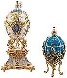 Design Toscano Œufs émaillés à collectionner style Romanov Impératrice Valentina et Impératrice Galina