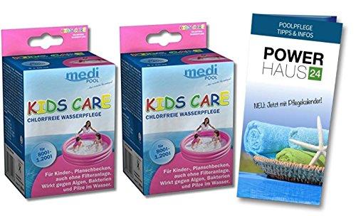KIDS CARE 2 x 250ml, für Plantschbecken, chlorfrei, mediPOOL
