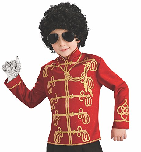 T-Shirt Uniform Michael Jackson TM in Rot für Jungen - 7-8 Jahre