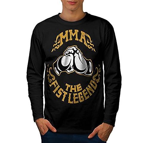MMA sport Combat Homme L T-shirt à manches longues | Wellcoda