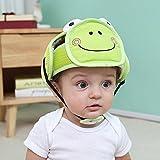 Casco de seguridad para bebé, casco de seguridad antigolpes, de algodón, protección para bebés, gorro de seguridad para niños y senderismo verde verde