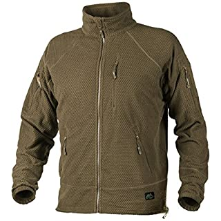 Helikon Men's Alpha Tactical Jacket Grid Fleece Coyote size M