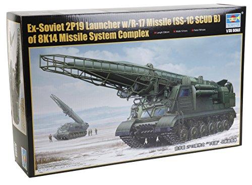 Trumpeter 01024-Modelo Kit-Soviética 2P19Lanzador de misiles con 17