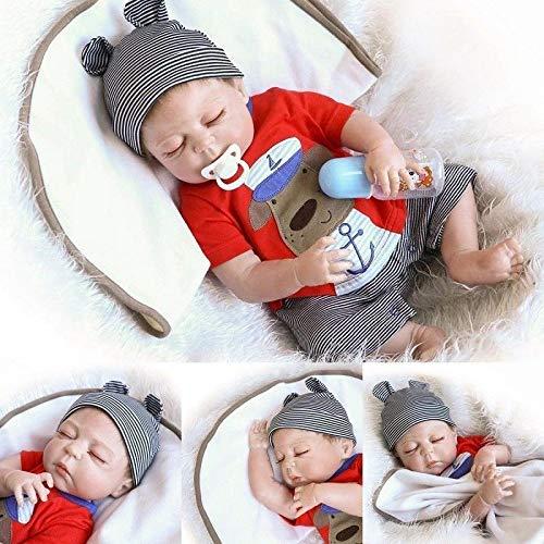 ZIYIUI 50 cm Poupée Reborn Baby Dolls Bebe Reborn en Silicone Souple Corps Entier Pleine Fleur de 20 inch Poupée Réaliste Correcte pour Bébé Reborn