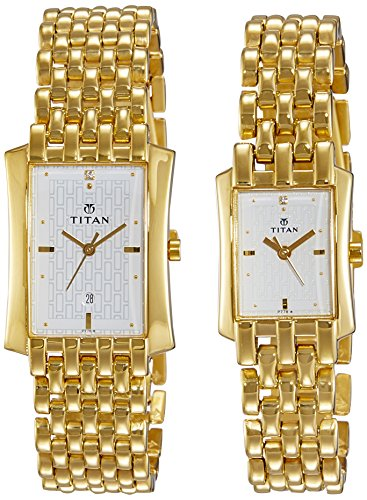 Titan Bandhan Analog White Dial Couple's Watch - NE19272927YM01