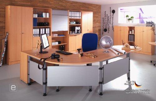 Profi Komplett System- Bro Broeinrichtung Brombel Schreibtisch Aktenschrank