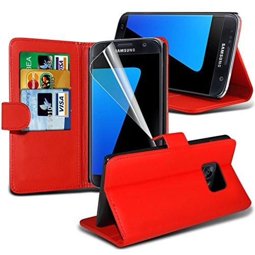 Étui pour HTC Desire 626 / HTC Desire 626 E5603, E5606, E5653 Titulaire de téléphone Case voiture universel Mont Cradle Tableau de bord et pare-brise pour iPhone yi -Tronixs S7 Wallet ( Red )