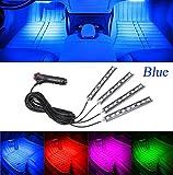 Aution House - 4Pcs Car LED Interior Underdash Lighting Kit Led Car Interior Light Auto Interior Lights Car Auto Interior LED Atmosphere Lights (Blue)