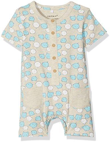NAME IT Baby-Jungen Strampler Nitdion SS Sunsuit MZNB, Mehrfarbig (Peyote), Gr. 68 (Sunsuit Baby)