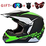 Adult Off Road Helm Dot Dirt Bike Motocross ATV Motorrad Offroad (S, M, L, XL),M