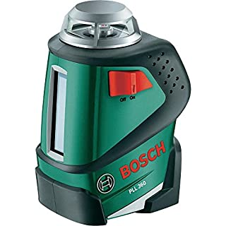 Bosch PLL 360 Cross Line Laser Featuring 360 Degrees Horizontal Function Measuring Tool Including Tripod