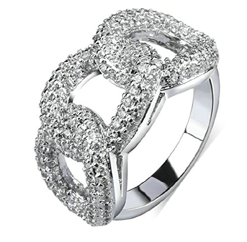 Daesar Frauen Ring Vergoldet Silber Ring mit Stein Ring Infinity Hochzeit Ring Ewigkeit Ring Größe:52 (Kostüm Stein Keith)