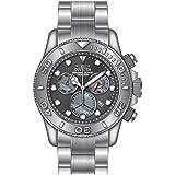 Invicta Men's Pro Diver Steel Bracelet & Case Swiss Quartz Gun Metal Dial Analog Watch 20344