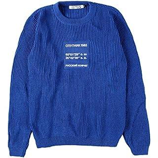 Sputnik 1985 Damen Knitted Sweater 'Russian Ark' Blue, Größe M