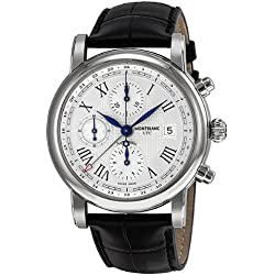Montblanc Star Chronograph UTC Automatic Stainless Steel Mens Watch 107113