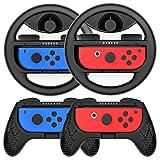 COODIO Volante y Grip Switch Joy-Con, Switch Joy-Con Racing Wheel...