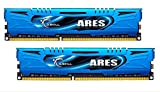G-Skill Ares F3-1866C9D-8GAB 8 GB (4 GB x 2) DDR3-1866 Non-ECC Memory Modules with Low Profile Heat Spreader - Blue
