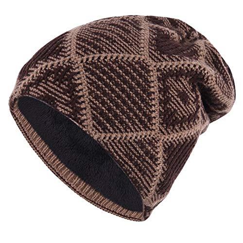 Nrkin Wintermützen, warme Unisexmütze, Skull Cap, Skimütze - Strickmütze -