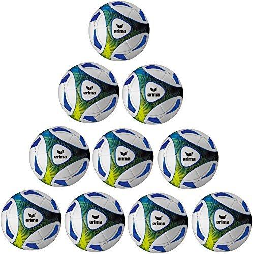 10x Erima Hybrid Trainingsball Größe: 5 inkl. Ballnetz (Fußball-training)