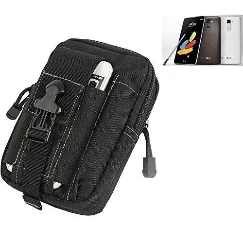 K-S-Trade für Gürtel Tasche LG Stylus 2 DAB+ Gürteltasche Schutzhülle Handy Hülle Smartphone Outdoor Handyhülle schwarz Zusatzfächer