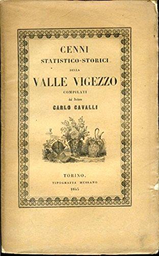 Cenni statistico - storici della Valle Vigezzo