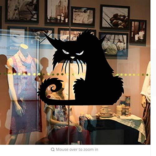 【mzdzhp】【Kann angepasst werden, Größe, Farbe, DIY-Muster】Vinyl Abnehmbare 3D Schwarze Katze Wandaufkleber Wohnkultur Party Kinder Wohnzimmer Wandtattoo Tapete Halloween Dekoration (Halloween-kuchen Für Einfache Kinder)