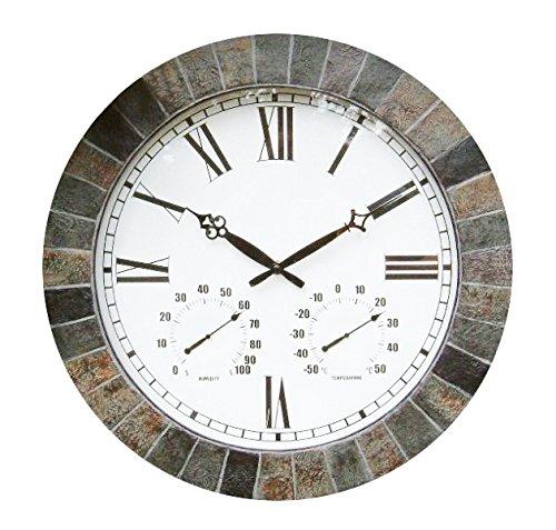 Große Schiefer Gartenuhr (45cm) (Wetterfeste Uhren)
