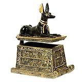 Schmuckdose Truhe ägyptischer Gott Anubis Schakal klein zum öffnen